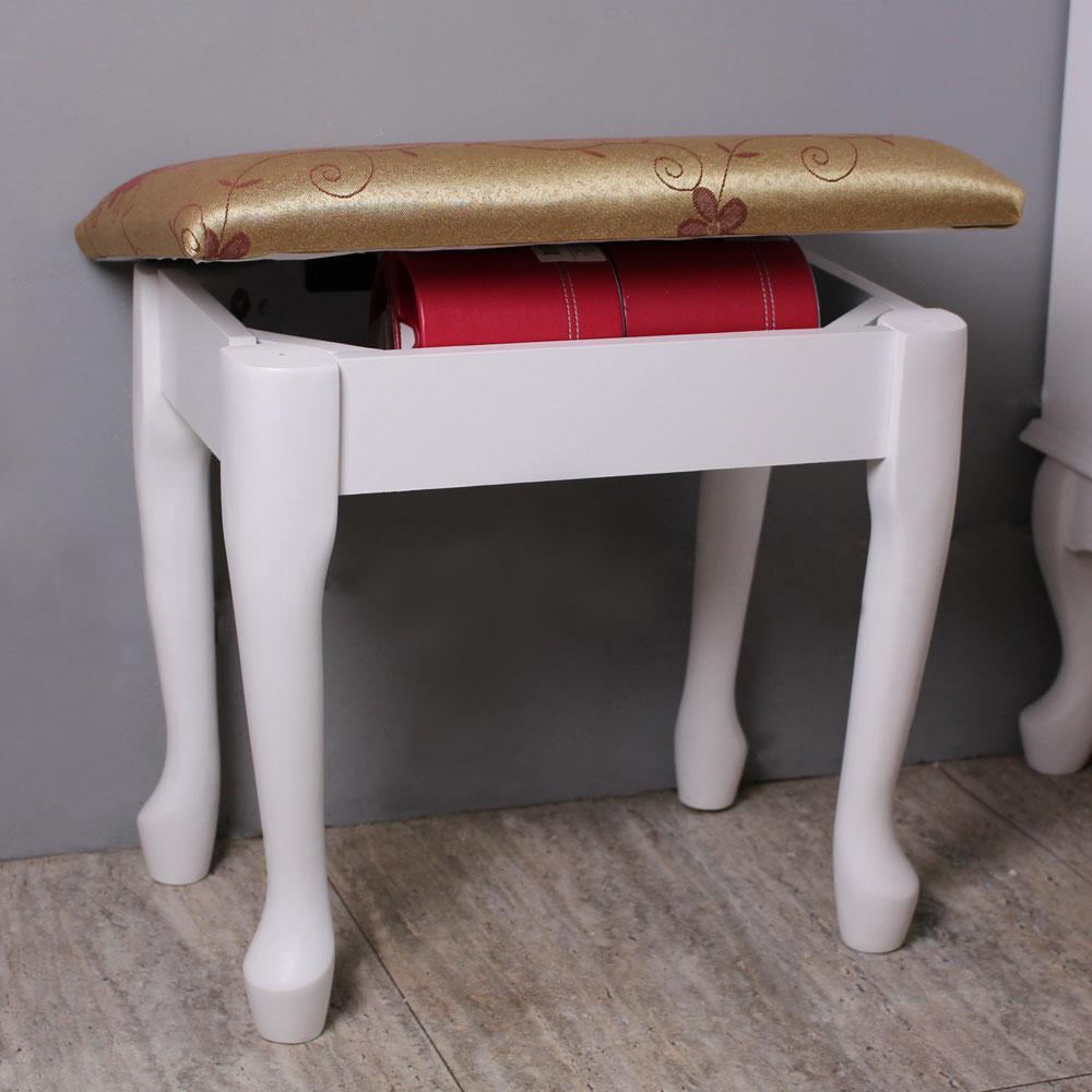 Asllie維多利亞化妝椅/收納椅-白色
