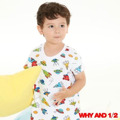 WHY AND 1/2超人普普熊家居T恤白色 11Y~12Y