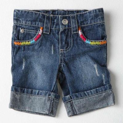 【LOVEDO-艾唯多童裝】個性休閒 民族單寧短褲