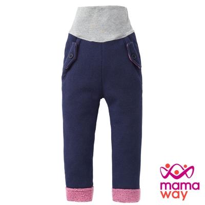 Mamaway Baby刷毛異色口袋造型護肚褲(共三色)