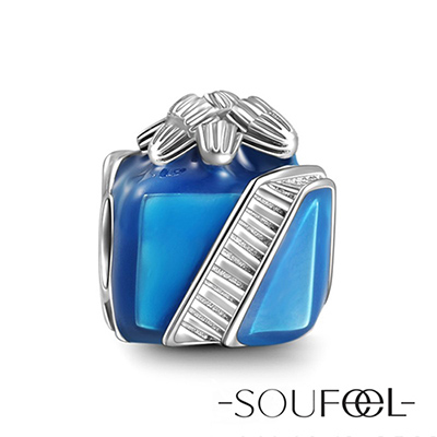 SOUFEEL索菲爾 925純銀珠飾 聖誕禮物盒 串珠