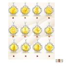 喜福金品-十二生肖系列 純銀黃金墜(4厘) 附316L白鋼項鍊