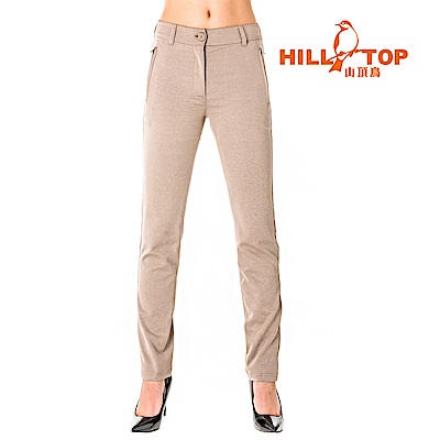 【hilltop山頂鳥】女款吸濕排汗抗UV長褲S07FG6-卡其