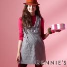 Gennies奇妮-灰直條紋甜美長版背心上衣 (G3227)