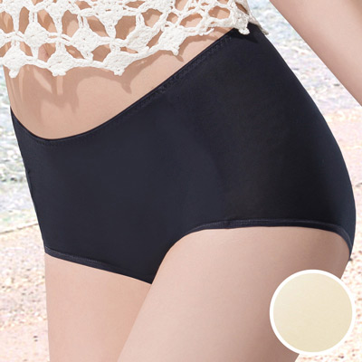 華歌爾-COOL冰涼褲M-3L高腰三角褲-冰晶黃