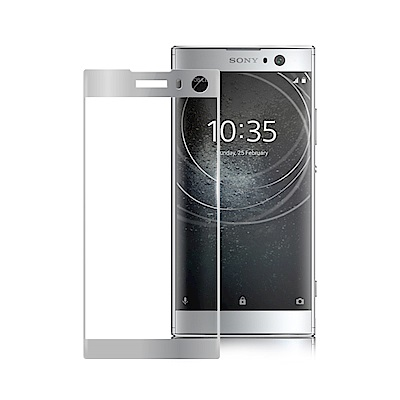 Xmart for SONY XPERIA XA2滿版2.5D鋼化玻璃貼-銀