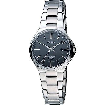 ALBA 輕簡約優雅時尚腕錶(AH7J65X1)黑/28mm