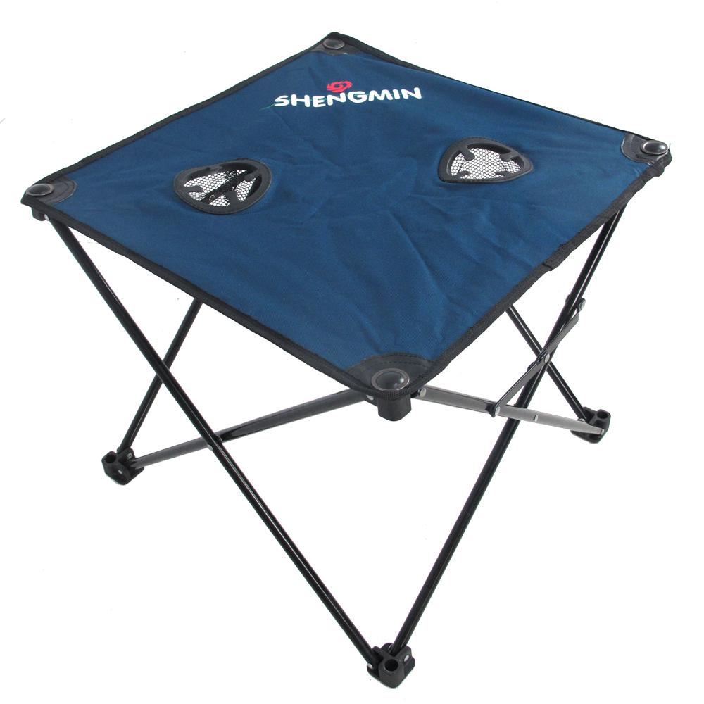 RV戶外休閒折疊帆布桌(藍色)