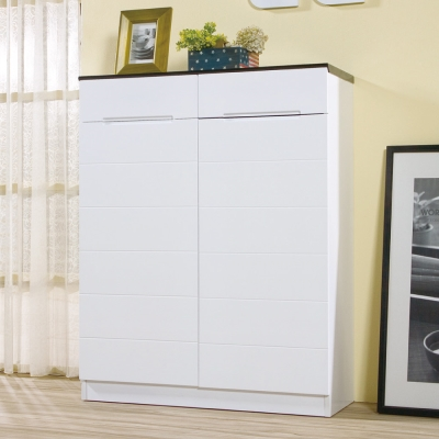 品家居 貝拉爾2.7尺白色開門鞋櫃-80x32x101cm-免組