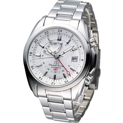 Orient Star GMT 動力存儲機械腕錶-白/41mm
