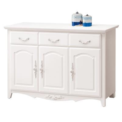 愛比家具 古典優雅4尺碗碟櫃下座