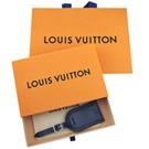 LV 路易威登 深藍色真皮行李吊牌