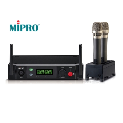 MiPRO新機種B-49數位無線麥克風-可充電式(附充電座)-避免2.4G通訊產品的干擾