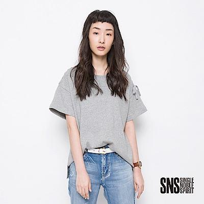 SNS 另類率性編織綁帶純色設計上衣(2色)