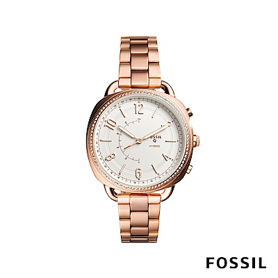 FOSSIL Q ACCOMPLICE 圓弧造型智慧手錶-玫瑰金