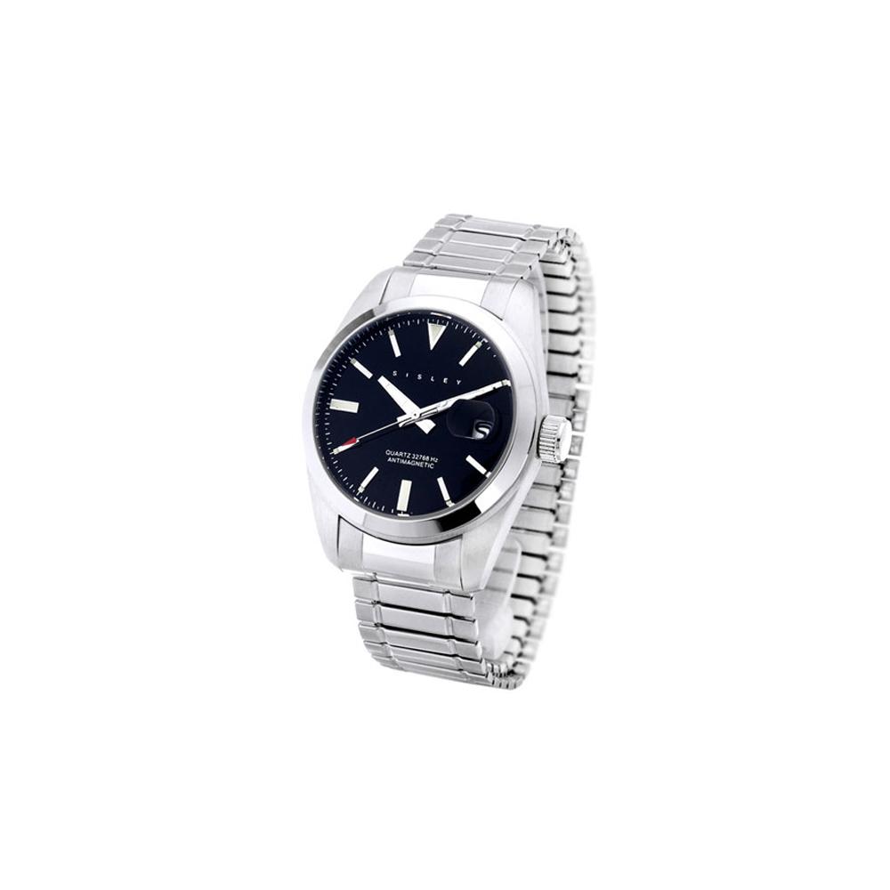 SISLEY 漫爵義思彈性抗磁腕錶 (黑)