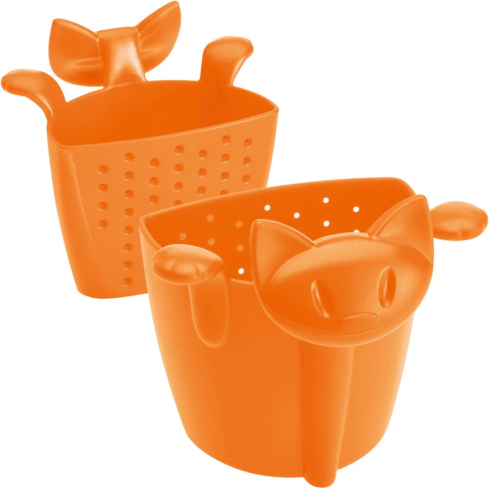 KOZIOL 慵懶貓掛式濾茶器(橘)