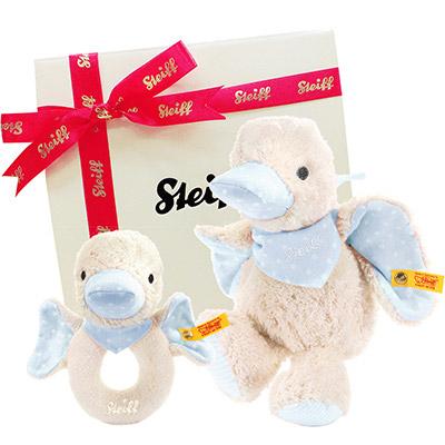 STEIFF德國精品泰迪熊 - 水藍小鴨禮盒