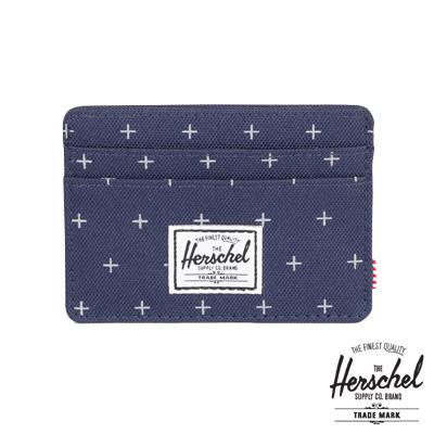Herschel Charlie Wallet 卡夾-深藍色十字紋路