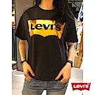 女款 短袖T恤 金色LOGO 黑色 - Levis