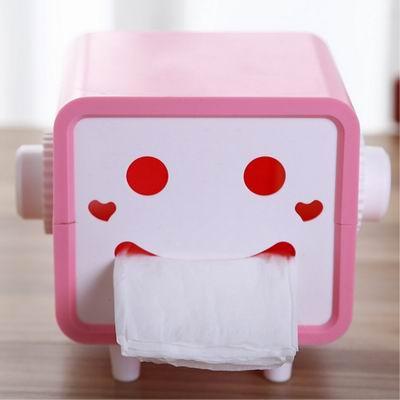 iSFun 方型笑臉 自動抽取紙巾盒 2色可選