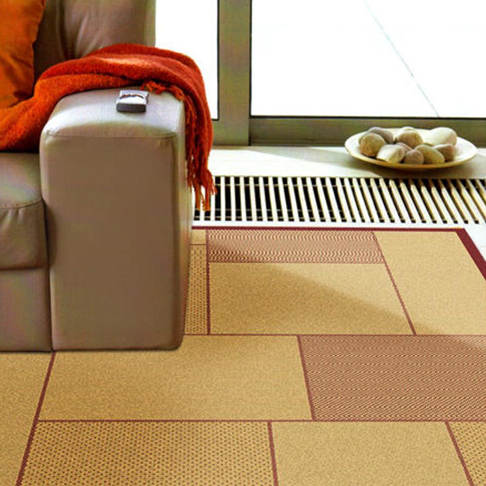 【范登伯格】凱蒂●海島風類亞麻地毯/地墊/玄關墊-夏響紅160x230cm