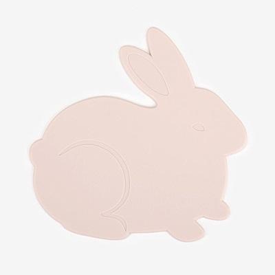 Dailylike 森林樂園造型矽膠隔熱墊-03粉紅兔