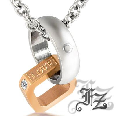 【FZ】一世纏綿白鋼項鍊(玫瑰金)