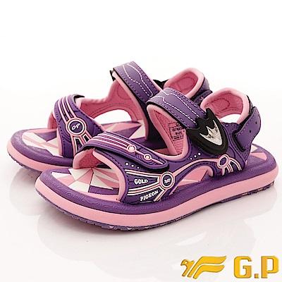 GP涼鞋-磁扣兩穿涼鞋-SE625B-41紫(中大童段)