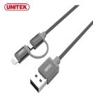 UNITEK優越者蘋果認證Lightning&MicroUSB二合一2.4A傳輸線
