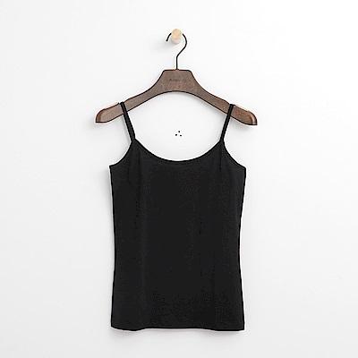Hang Ten - 女裝 - 純色細肩背心-黑色