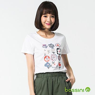 bossini女裝-印花短袖T恤45白