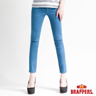 BRAPPERS 女款 新美腳Royal系列—女用彈性九分褲-深天藍