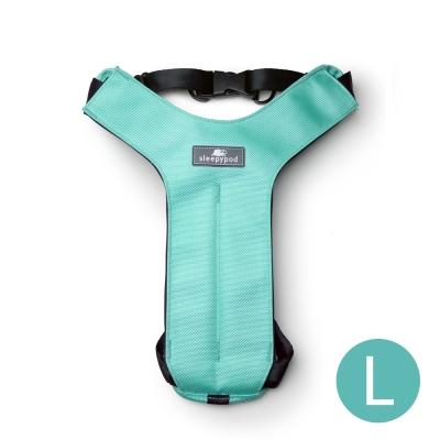 Sleepypod 寵物旅者安全胸背帶-藍綠L
