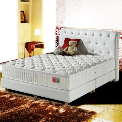MG珍寶-三線蠶絲+乳膠抗菌麵包型蜂巢獨立筒床墊-雙人5尺