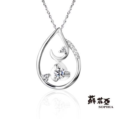蘇菲亞SOPHIA 鑽鍊 - 月光 0.10克拉 八心八箭鑽石項鍊