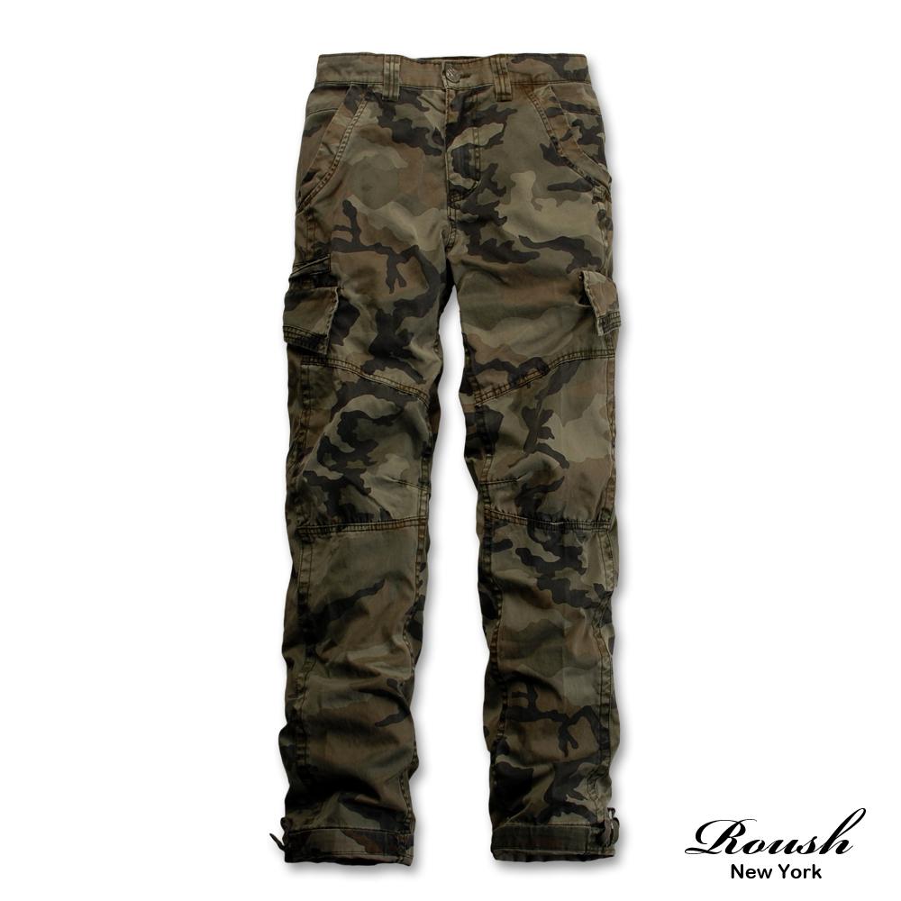 ROUSH 卯釘設計多口袋水洗工作長褲 (4色)