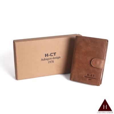 H-CT 禮盒組簡約質感扣式真皮中夾(MW1989-Z)