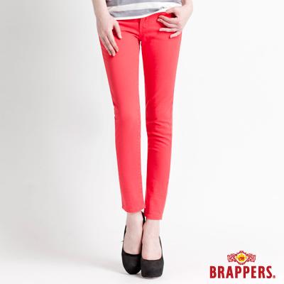 BRAPPERS 女款 新美腳Royal系列-女用彈性九分褲-紅