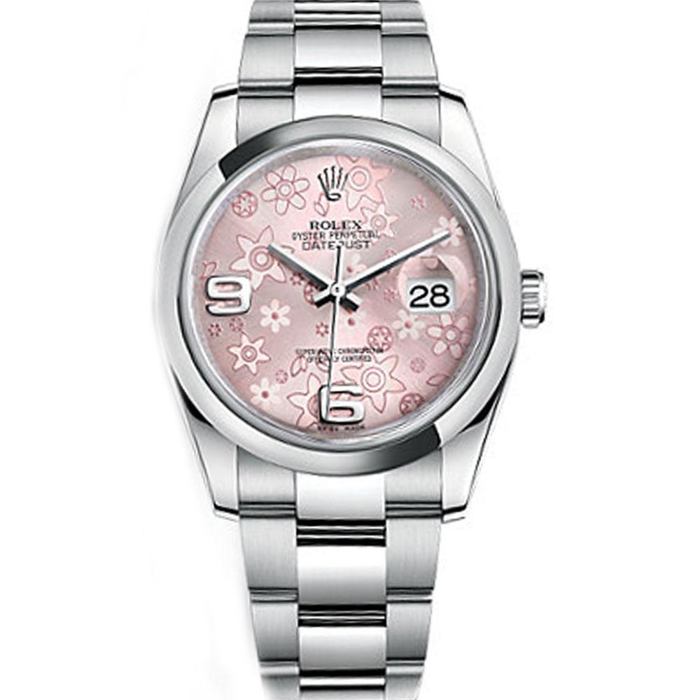 ROLEX 勞力士 Datejust 116200 蠔式日誌型機械錶-粉色小花面/36mm