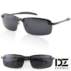 DZ 型潮格調 抗UV 偏光太陽眼鏡墨鏡(黑框灰片)