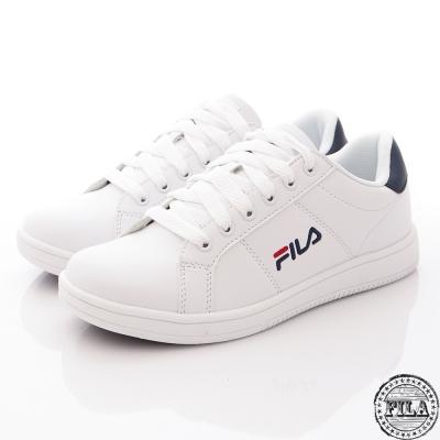 Fila 情侶款休閒鞋復古低筒丈青色~1-C374R-113