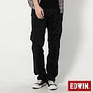 EDWIN KHAKI皮口袋中直筒褲-男-黑色