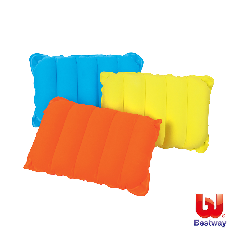《凡太奇》Bestway。高級植絨充氣枕-黃、橙、藍 67485 - 快速到貨