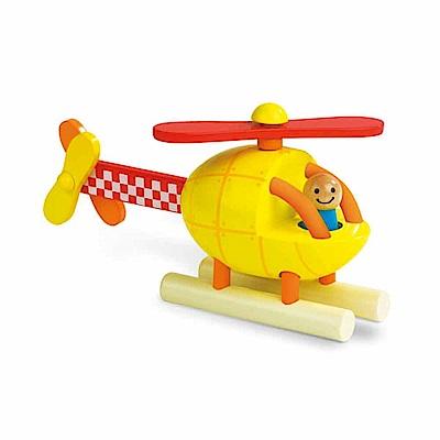 法國Janod 磁性拼裝積木 直升機