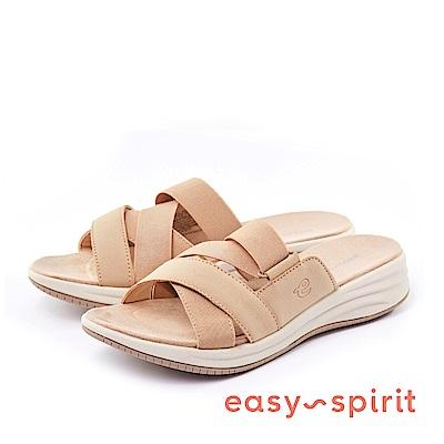 Easy Spirit--交錯鬆緊帶厚底涼拖鞋-優雅膚