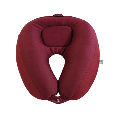 Go Travel 雙層可調式頸枕- 暗紅