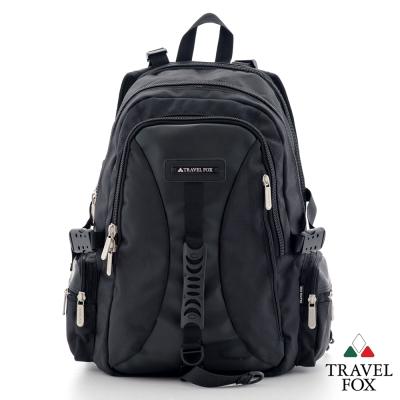 Travel Fox旅狐 休閒包 大容量戶外旅行電腦後揹包 - 黑