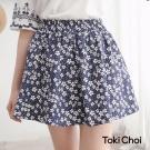 東京著衣 傘襬印花褲裙-XS.S.M(共二色)