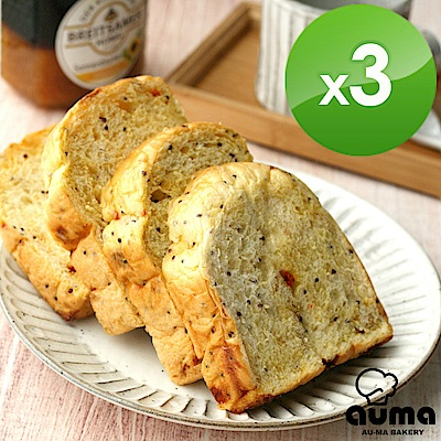 奧瑪烘焙健康ㄟ吐司-紅藜枸杞湯種吐司X3入